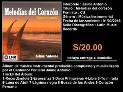 ALBUM MELODIAS DEL CORAZON BY JAIME ANTONIO