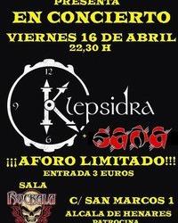 SAÑA + KLEPSIDRA en ROCKALA
